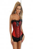 Corsetto red burlesque plus
