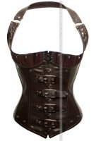 Corsetto latex sottobusto marrone